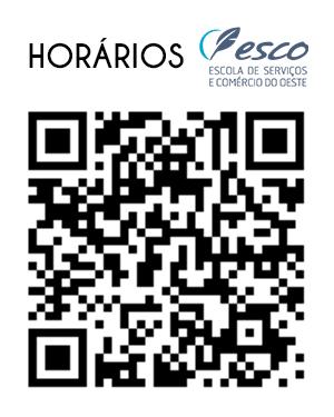 QR code Horários